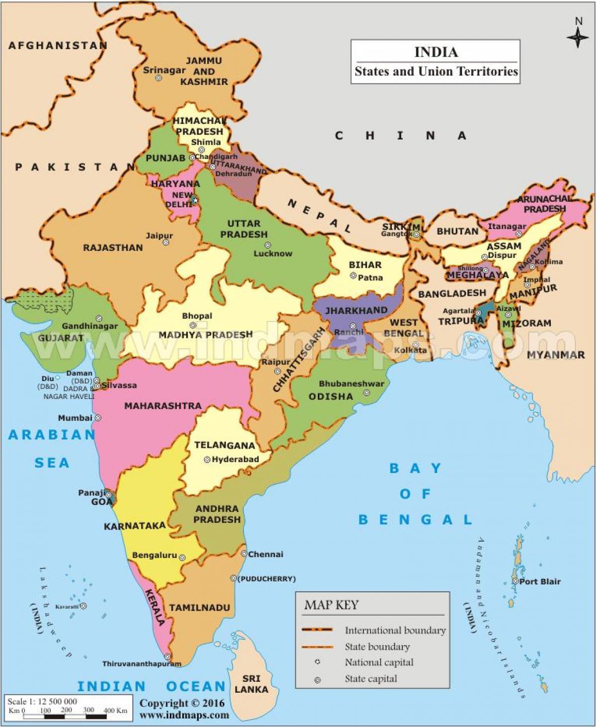 Intian Kartta Jossa Maat Intia Kartta Jossa Maat Etela Aasia